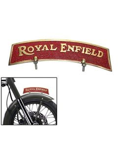 Front Fender Mudguard Plate Golden Red of Brass for Royal Enfield Classic 350
