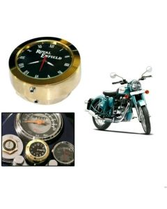 Royal Enfield Premium Brass Bike Handlebar Mount Dial Clock Watch 7/8inch 1inch for Classic 350