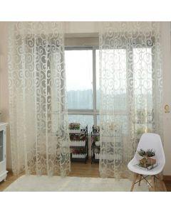 Balcony window curtain White