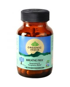 Organic India Breathe Free 60 Capsules Bottle for Health Care