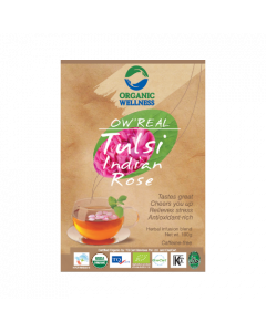 Organic Wellness Real Tulsi Indian Rose Tea