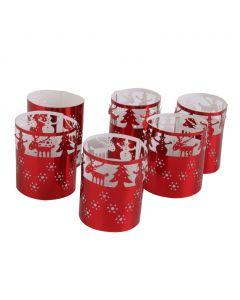 Red pattern christmas trees Wedding Table Led Tea Light