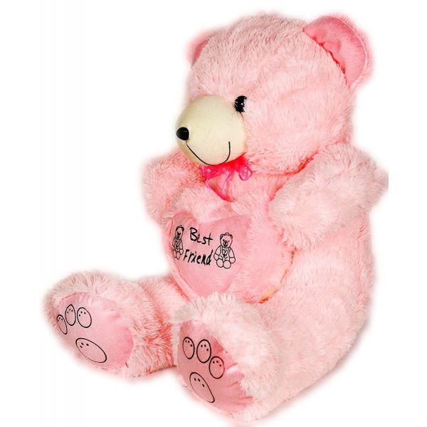 Beautiful Pink Teddy Bear with heart - 75 CM