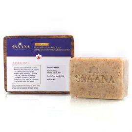 Snaana Grand Ma-Pa GOAT MILK - GOTU KOLA Soap With FIG & FENNEL for Experienced Skin