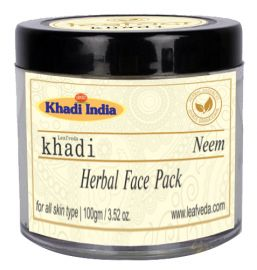 Khadi Leafveda Neem Face Pack For Face Care 100gm