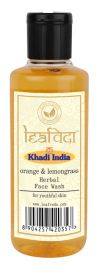 Khadi Leafveda Orange Lemongrass Face Wash For Face Care 210ml