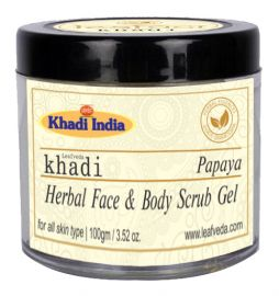 Khadi Leafveda Papaya Gel Scrub For Face Care 100gm