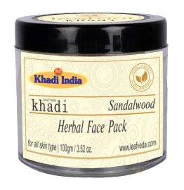 Khadi Leafveda Sandalwood Face Pack For Face Care 100gm