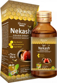Ayukriti Herbals Nekash Herbal Cough Syrup- 100ml