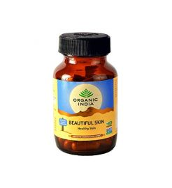 Organic India Beautiful Skin 60 Capsules Bottle for Health Care