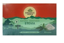 Organic India Organic Stevia 25 Sackets for Health Care