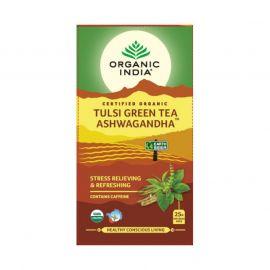 Organic India Tulsi Green Tea Ashwagandha 25 TB